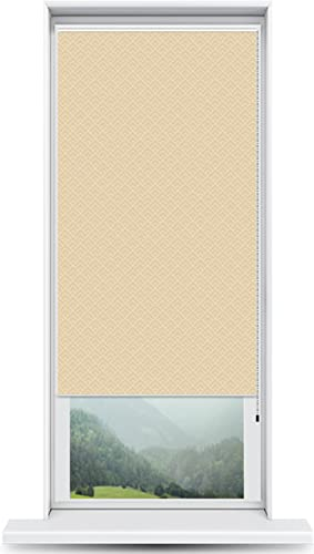 ShadePix Window Shade – Blackout Window Shade with Available in Size 29 x 72 Peaks Modern Pattern Beige
