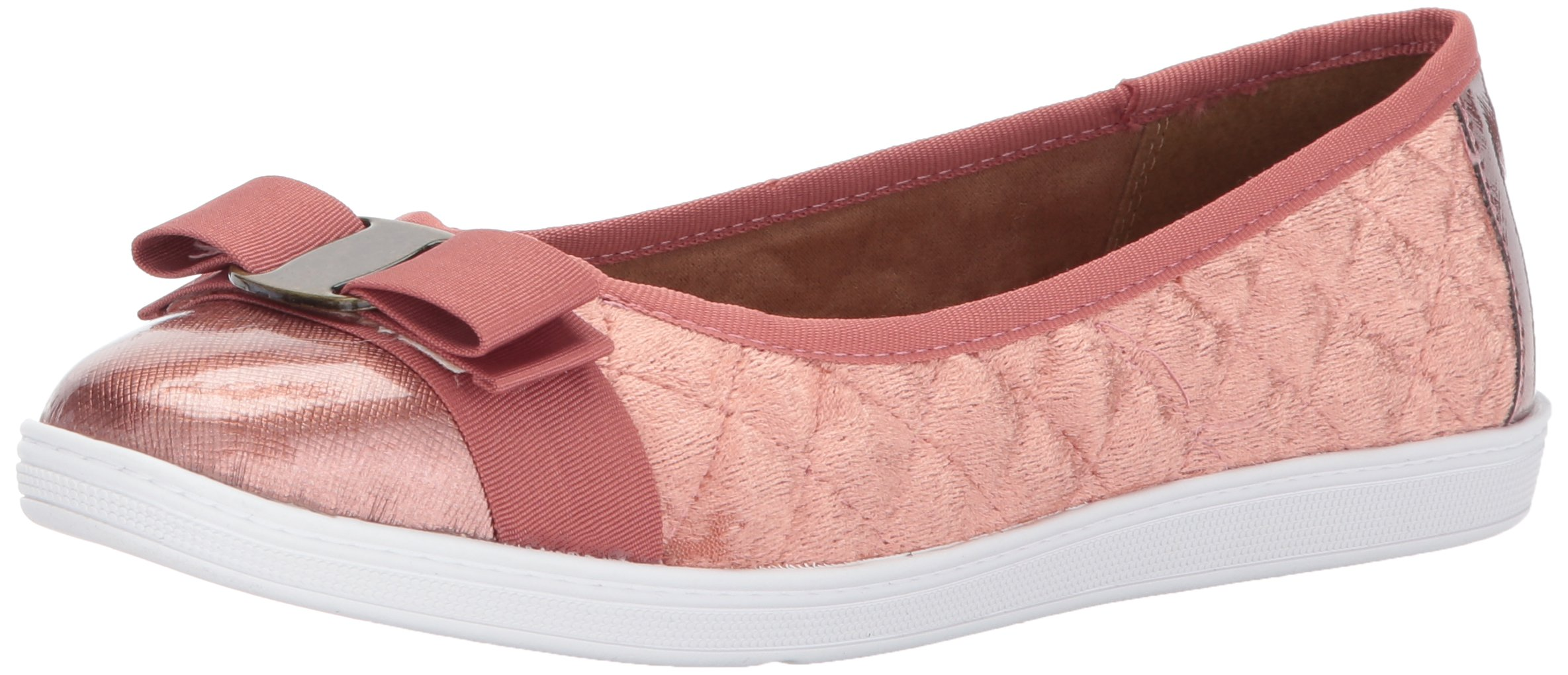 Soft Style Hush Puppies Women's Faeth Flat, Antique Rose Velvet, 9 M US by Soft Style
