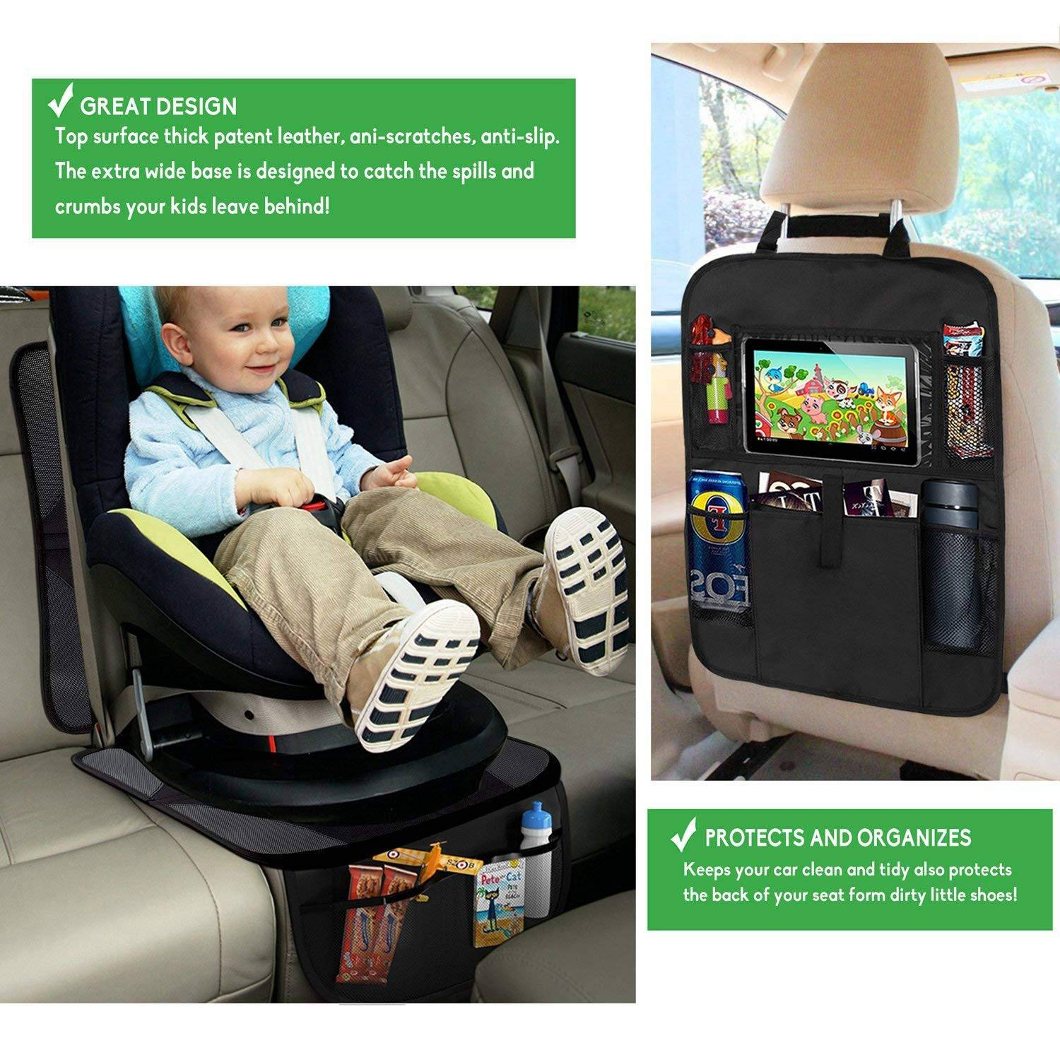 SODIAL Car Seat Protector Waterproof And Dirt Resistant Dog Mat Kick Mats Auto Backseat Protector Car Seat Cover For Baby /& Infant Seat