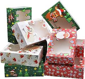 24 PCs Christmas Foil Treats Cookie Gift Box (8.75