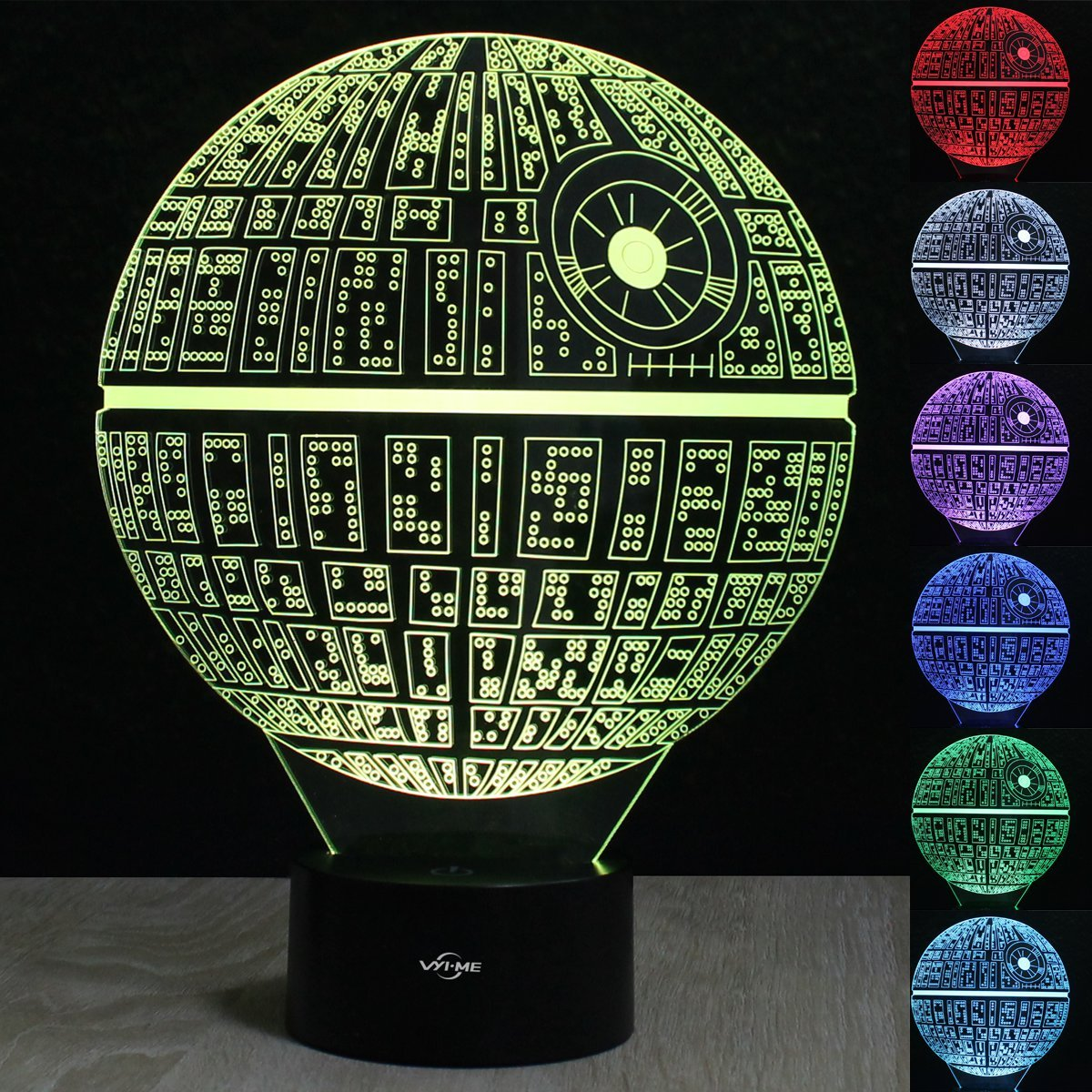 Amazon.com: Star Wars Death Star 3D illusion Night light LED 7 color change desk  table lamp Lighting Decor Gadget Lamp Awesome Gift: Home Improvement - Amazon.com: Star Wars Death Star 3D Illusion Night Light LED 7