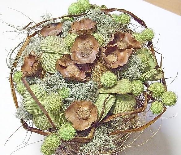 Blumenstrauss Coco Aus Exotischen Getrockneten Naturmaterialien 30