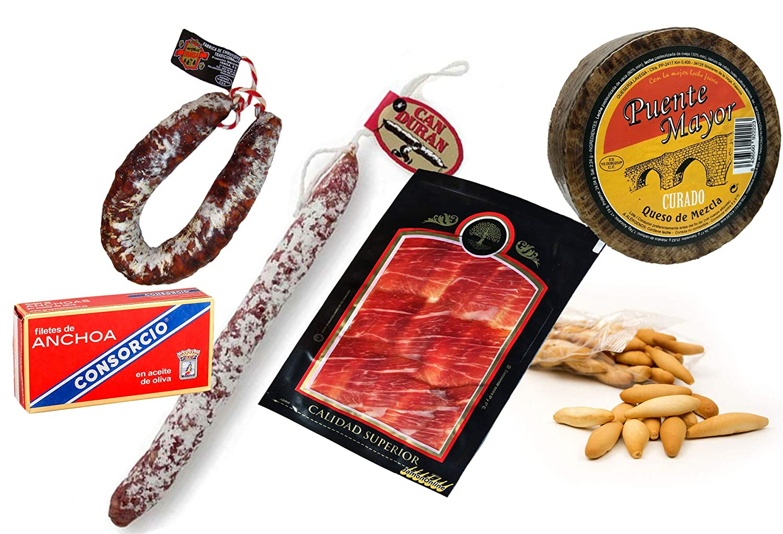 Lote de Embutidos: 1 Queso Curado de 1 Kg, 1 Chorizo ...