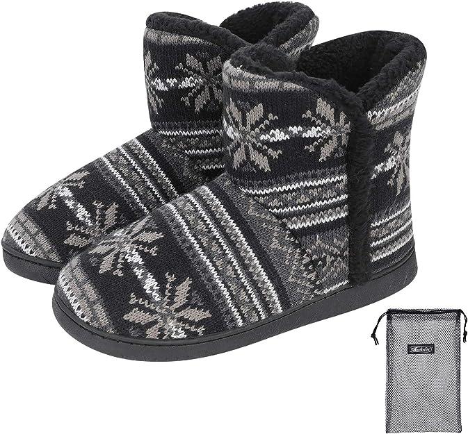 Pantoufles femmes en cuir et 100/% laine chaudes automne-hiver
