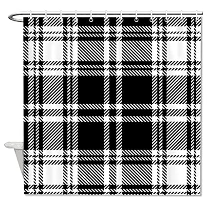 Image Unavailable Not Available For Color Fhdang Decor Black And White Plaid Shower Curtain