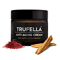 Trufella Natural Hydrating Day or Night Anti Ageing Face Moisturiser for Firm Age Defying Skin for Men and Women (Saffron and Sandalwood)- 50 g