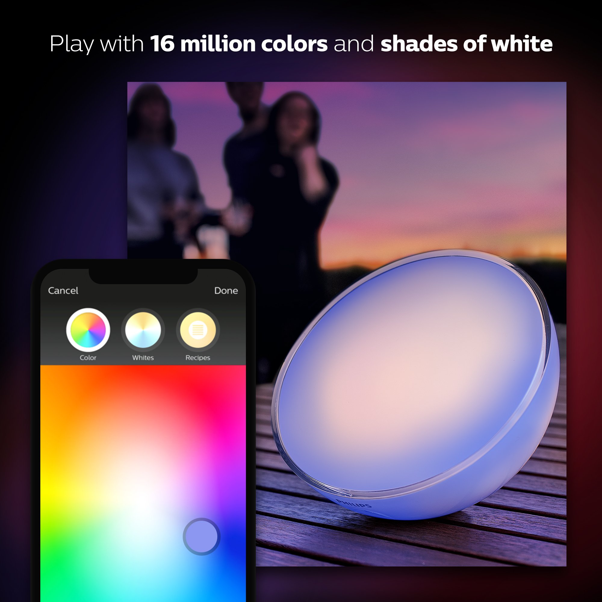 Philips Hue Go White and Color Portable Dimmable LED Smart Light Table Lamp (Requires Hue Hub, Works with Alexa, HomeKit and Google Assistant) by Philips Hue (Image #6)