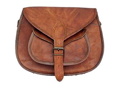 uk store multiple colors comfortable feel Rustic Town Brown Genuine Leather Crossbody Bag Tote Ladies Purse Handbag