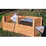 Gardening Works Superior Classic Double Twin Wooden Extendable Slot Down Compost Bin 75 x 178 x 90cm