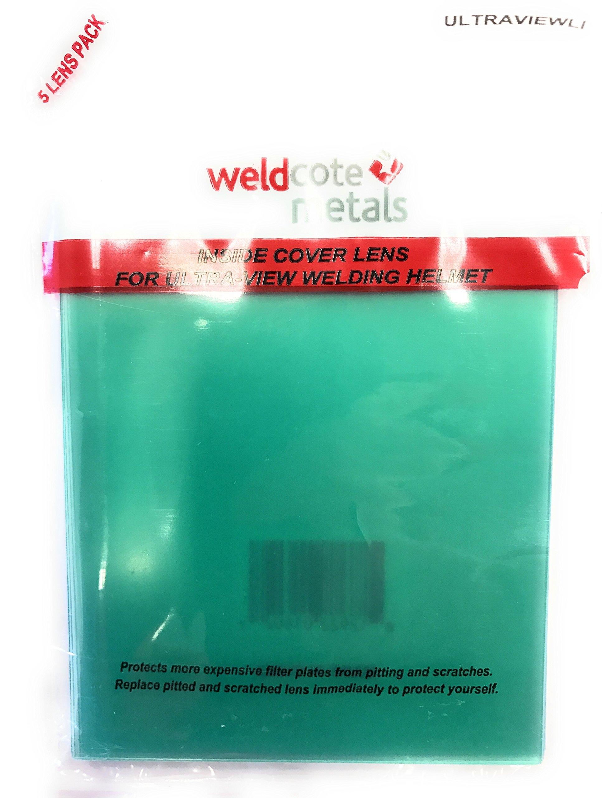 Weldcote Metals ULTRAVIEWLI Inside Cover Lens For Ultra-View Helmet Pkg=5