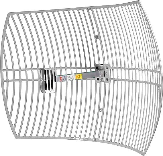 SimpleWiFi Extensor de WiFi de Alcance Ultra Largo G2424 Parabólica direccional (Amplificador de señal de Alta Velocidad) Antena Exterior