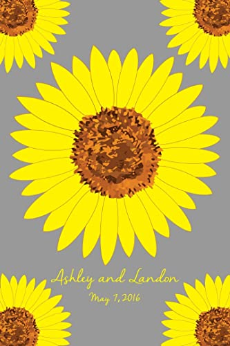 alternative multiple sunflower wedding guest book guestbook poster print bridal shower guest book