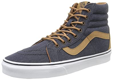 1e4e26d33c8 Image Unavailable. Image not available for. Color  Vans Sk8 Hi Reissue Mens  Size 6.5 Womens 8 Denim C and L Navy Blue Skateboarding