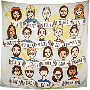 Diversity Culture Wall Hanging People of the World Tapestry School Office Classroom Inspirational Teacher Decor 48in x 48in