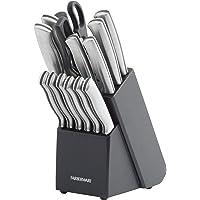 Farberware Juego de cuchillos de acero inoxidable con bloque para almacenamiento, 15 piezas