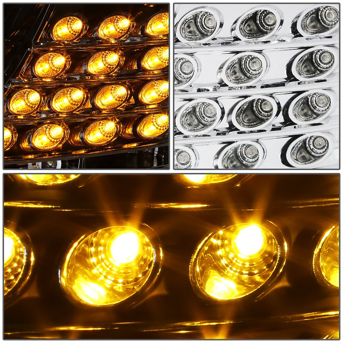 For Audi A6 Quattro C5 Typ 4b Pair Of Chrome All Lights Meaning Housing Amber Corner Projector Headlight Led Drl Automotive