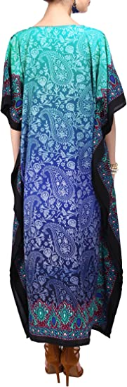 Kaftan Tunic One Size Cover Up Maxi Dress