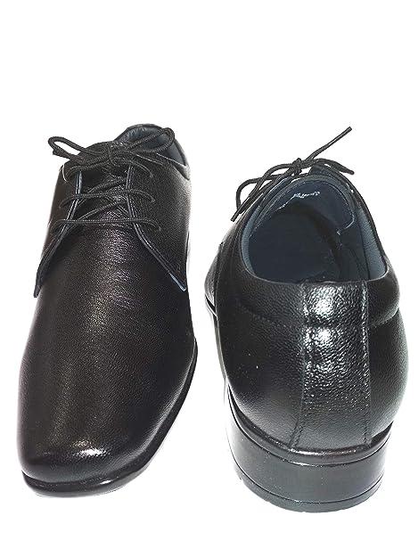Buy egoss Men's Black Leather Shoes (7
