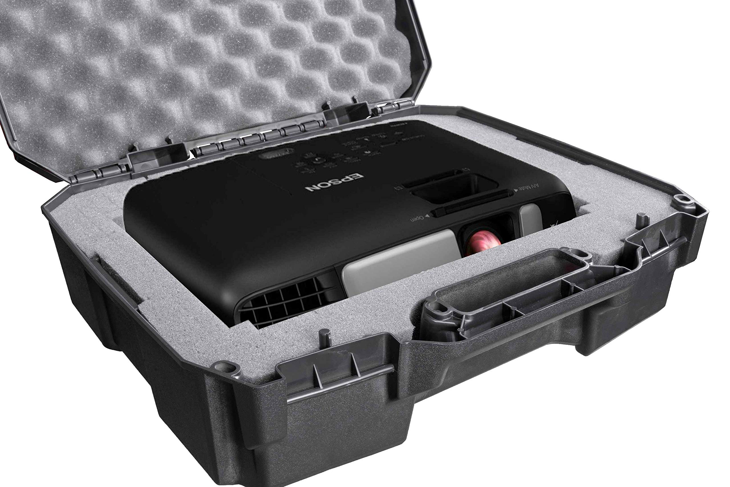 Case Club Projector Case Compatible with Epson VS240, VS345, VS340, EX3260, EX7260, EX3240, EX3220, EX7240, EX7235, and EX7230 Projectors Plus Cords and Remote