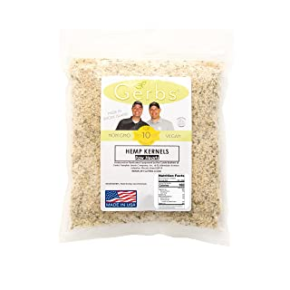 GERBS Raw Hemp Seed Kernels, 4 LBS by Top 12 Food Allergy Free & NON GMO - Vegan & Kosher - Premium Quality Grown in Canada