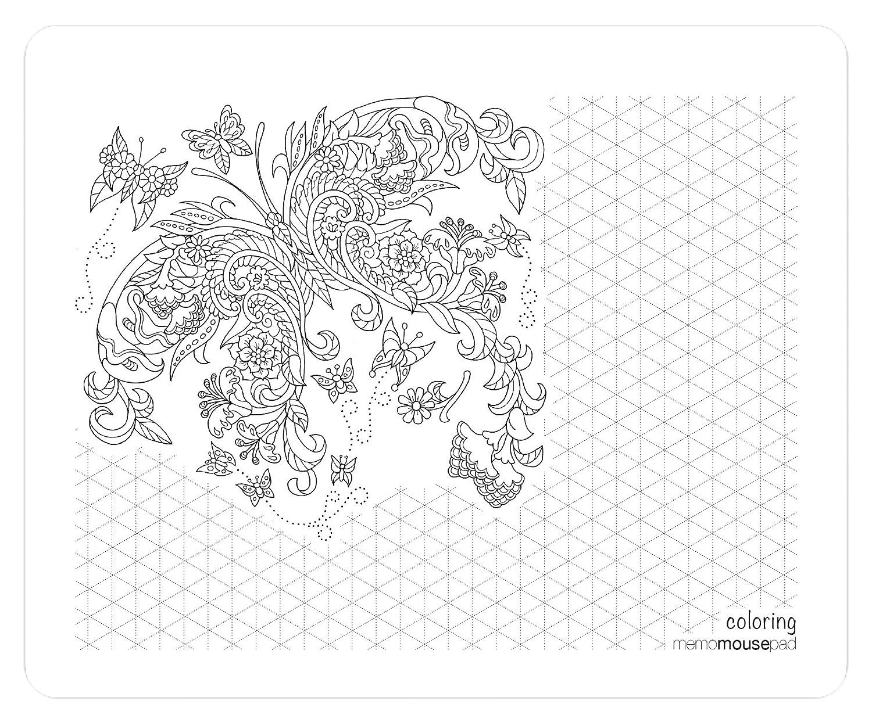 Acción de Coloring Pad Bloc de Acción notas – -Nota páginas con ilustraciones color gris por Kathryn Marlin 20950b