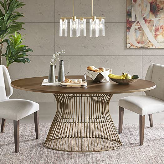 INK IVY Mercer Dining Oval Solid Wood Tabletop