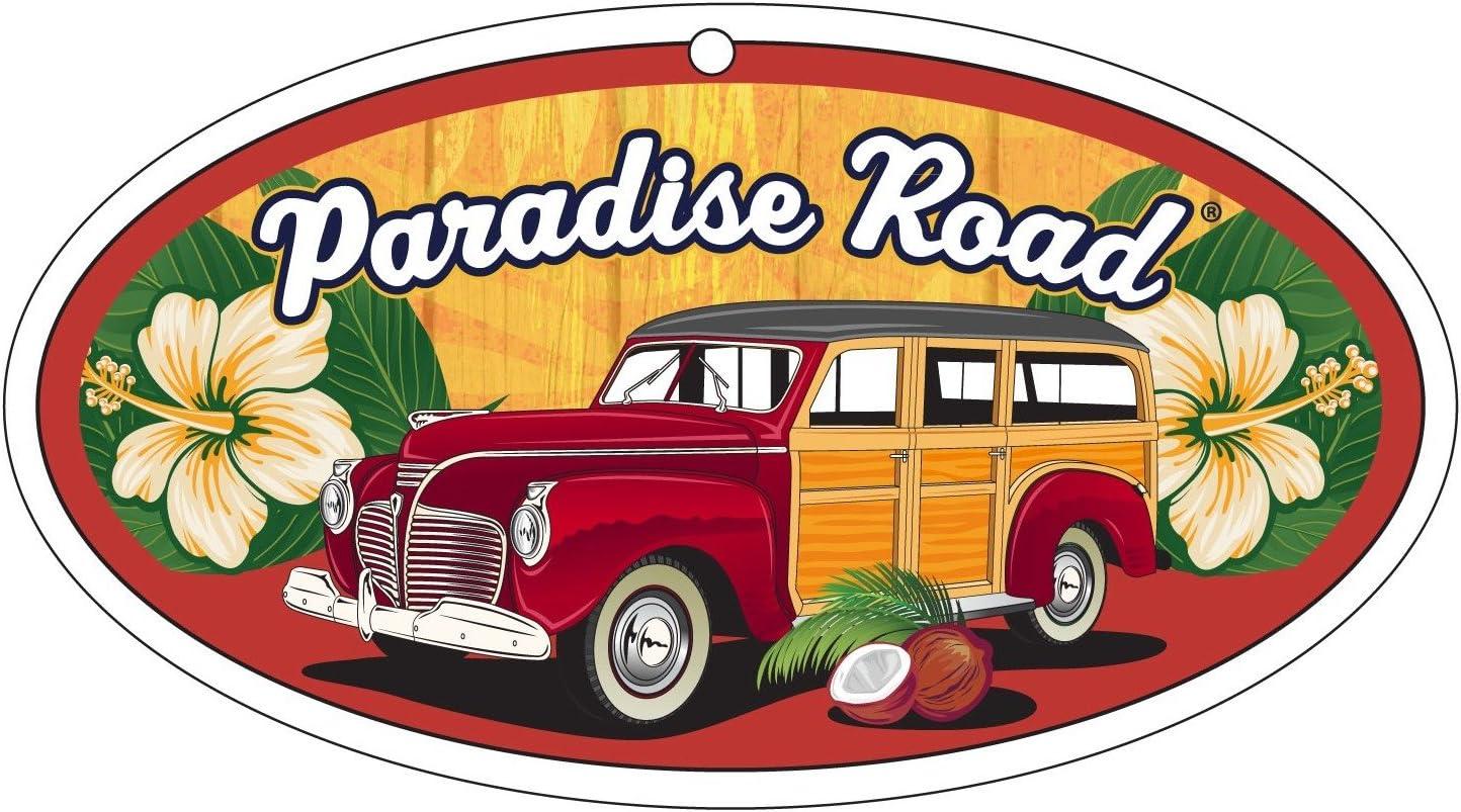 Amazon.es: Surf City Garaje Paradise carretera – Ambientador para coche Woody – de Lino Fresco Aroma – Pack de 3