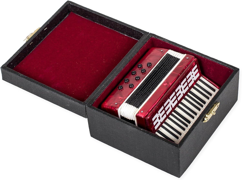 "3.5"" Burgundy Accordion Instrument Miniature 81ZwtuxubkL"