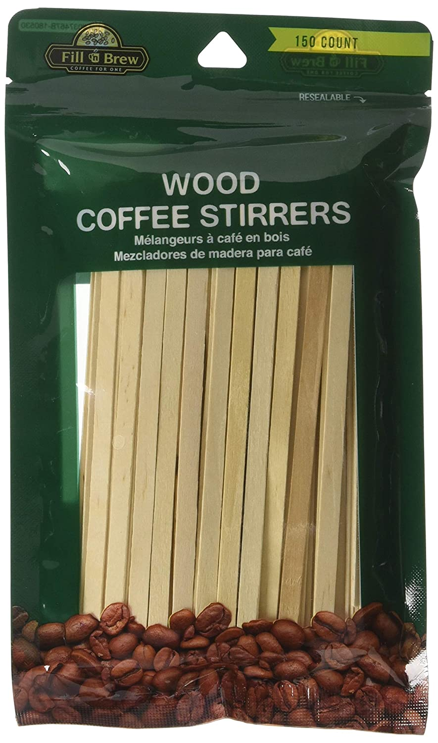 Economy Kitchen Accessory Wood Stirrers 150 Pack LaMi Products 10302