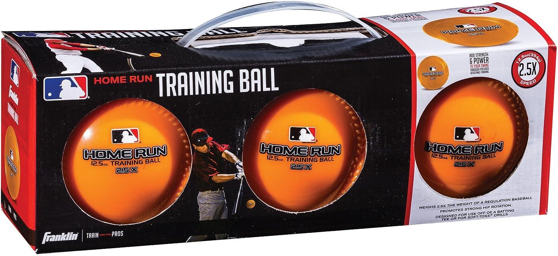 Franklin Sports MLB 12.5 oz Home Run Training Ball (3 Pack)