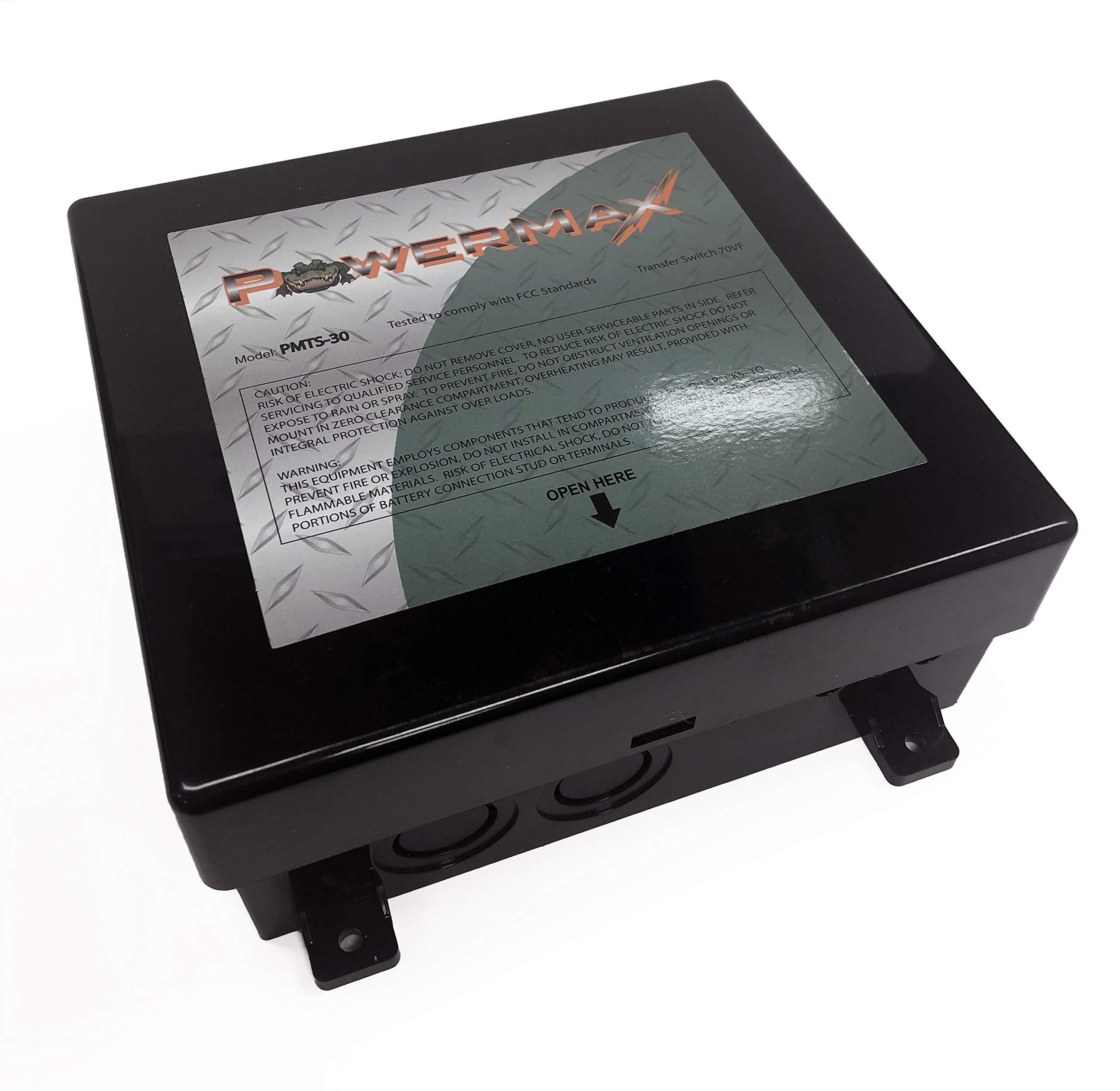 PowerMax PMTS-30 30 Amp Automatic Transfer Switch by PowerMax