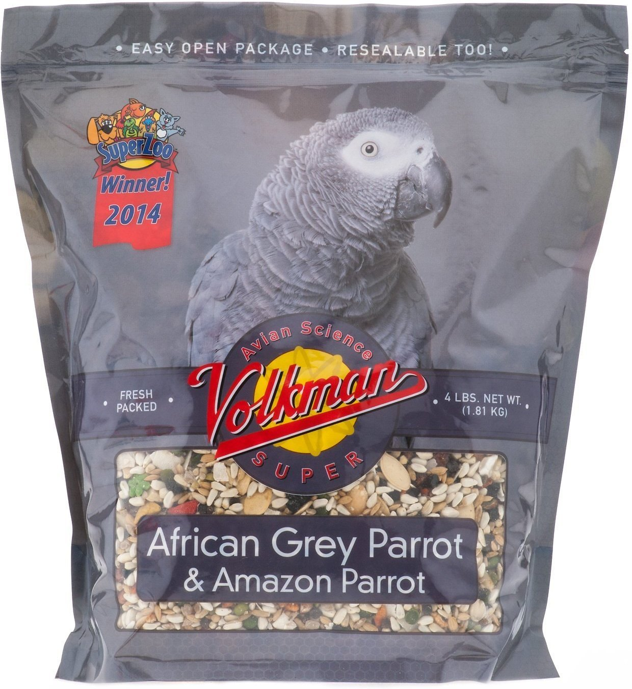 Volkman Avian Science Super African Grey Bird Food 4 lb by Volkman