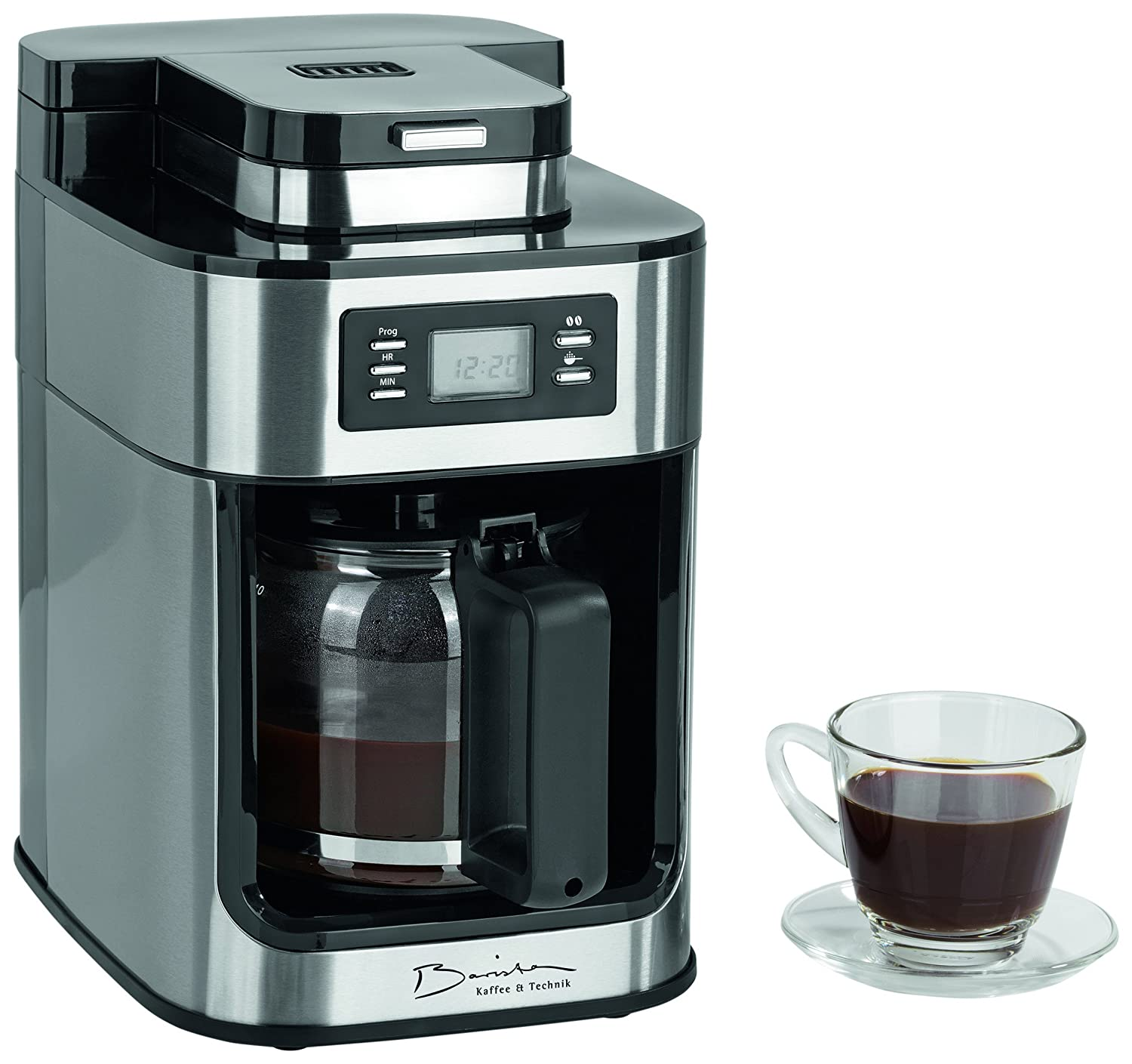 barista 09925 kaffeeautomat mit integriertem mahlwerk 1050 watt edelstahl ebay. Black Bedroom Furniture Sets. Home Design Ideas