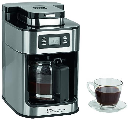 Barista 09925 Cafetera con molinillo integrado | 1050 W | Acero Inoxidable | Cafetera Eléctrica | Cafetera de émbolo (| Café