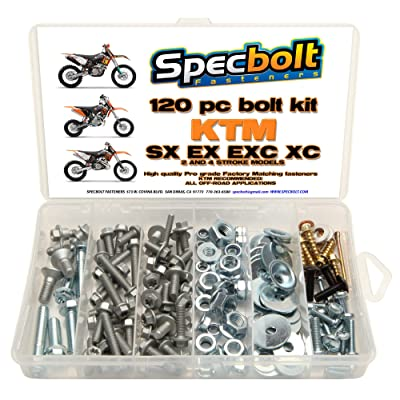 120pc Specbolt Bolt Kit fits: KTM SX EX EXC MX Dirtbike OEM Spec Fastener. This Includes 2 Strokes: 50 60 65 85 105 125 250 300 360 380 550 4 Strokes: 250 350 400 450 500 520 525 530 620 640: Industrial & Scientific