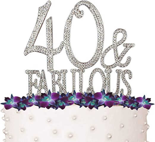 Miraculous Amazon Com 40 Fabulous 40Th Birthday Cake Topper Crystal Personalised Birthday Cards Cominlily Jamesorg