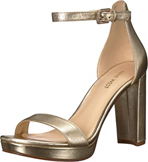 20869c9c2f6 Nine West Women s Dempsey Metallic Heeled Sandal
