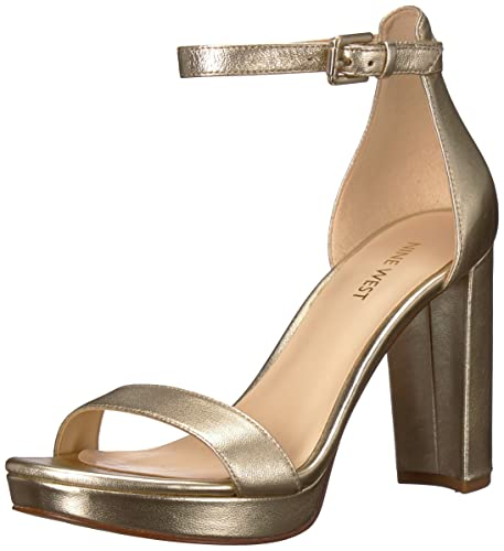 b965f943cd96 Nine West Women  s Dempsey Metallic Heeled Sandal  Amazon.co.uk ...