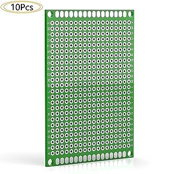 Amazon.com: diyhz doble cara PCB prototipo Board Kit para ...