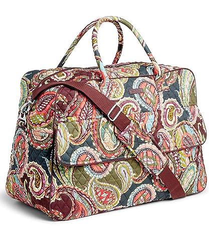 e69cabdcccf4 Vera Bradley Quilted Signature Cotton Grand Traveler Bag (Heirloom Paisley)