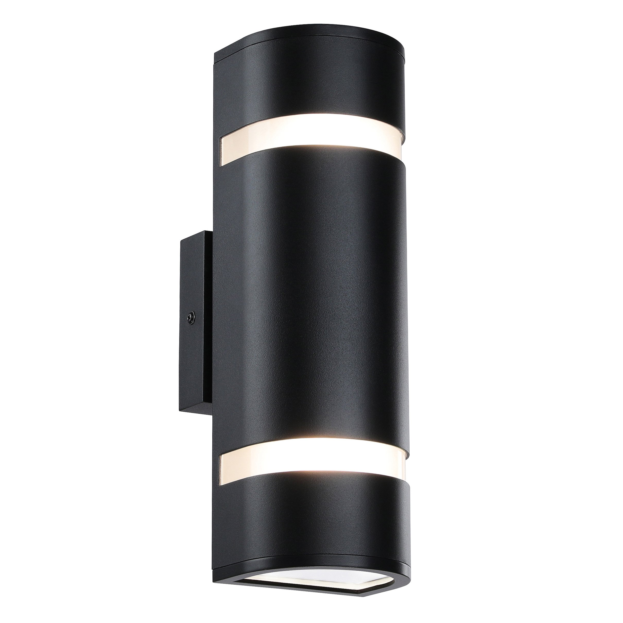 Outdoor Wall Light in D Shape with Aluminum Modern Wall Sconce Black Water Proof Wall Mount Light Suitable for Garden & Patio XiNBEi-Lighting XB-W1112-BK by XiNBEi Lighting