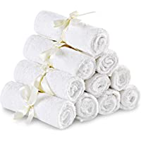 Utopia Towels luxury bamboo material baby towel - color -10 pack of -25 X 25 Cm - extra soft - highly absorbent