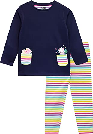 Girls Toddler Official Peppa Pig Top and Leggings Outfit Set