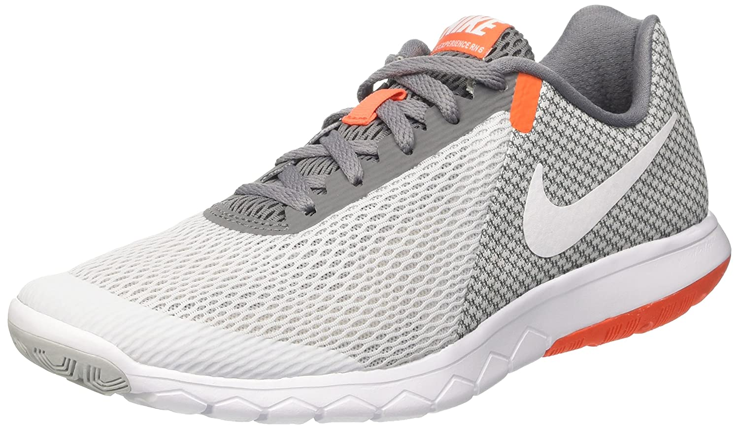 Nike Flex Experience RN 6, Zapatillas de Running para Hombre 42 EU|Gris (Pure Platinum/White Cool Grey Orange Cha)
