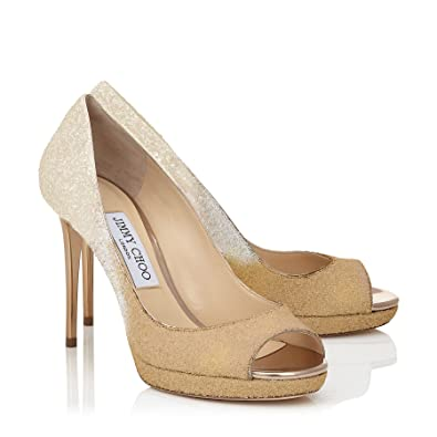 ffdc303107307 Amazon.com | JIMMY CHOO Luna Ombre Glitter Shoe 36.5 Nude | Pumps