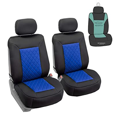 FH Group FB088102 Neosupreme Deluxe Quality Car Seat Cushions (Blue) Front Set with Gift - Universal Fit for Cars Trucks and SUVs: Automotive