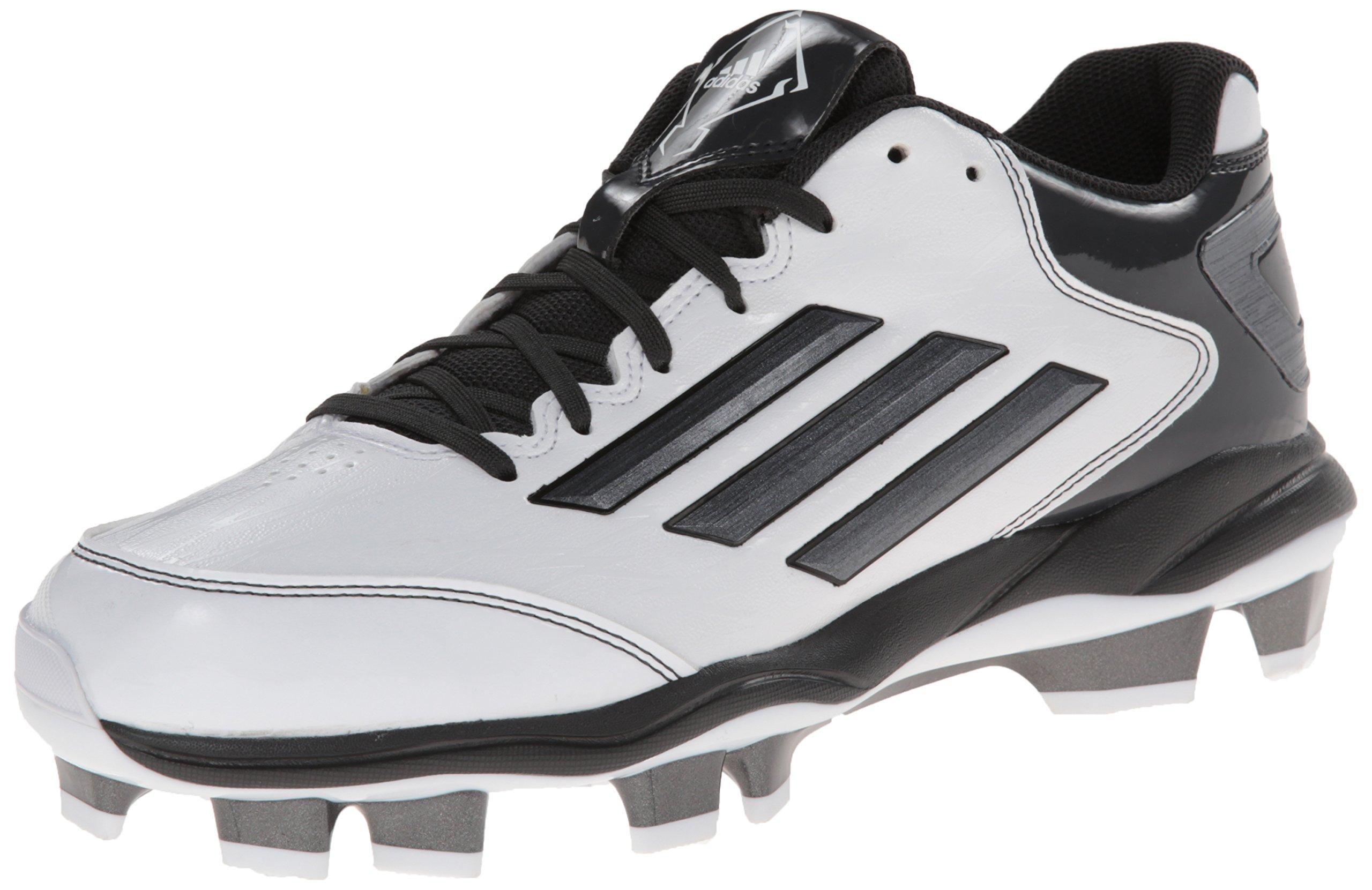 adidas Performance Women's PowerAlley 2 TPU W Softball Cleat, White/Carbon/Black, 7.5 M US