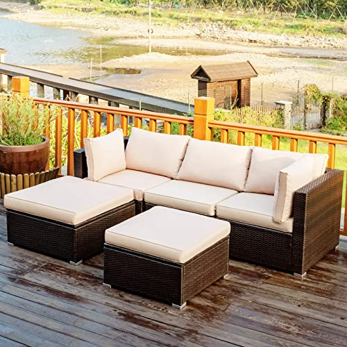 Tangkula 5 Piece Patio Furniture Set