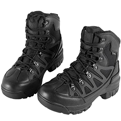 89f8453a684 FREE SOLDIER 6 Inch Outdoor Breathable Suedu Leather Hiking Ankle Boots  Tactical Military Shoes(Black