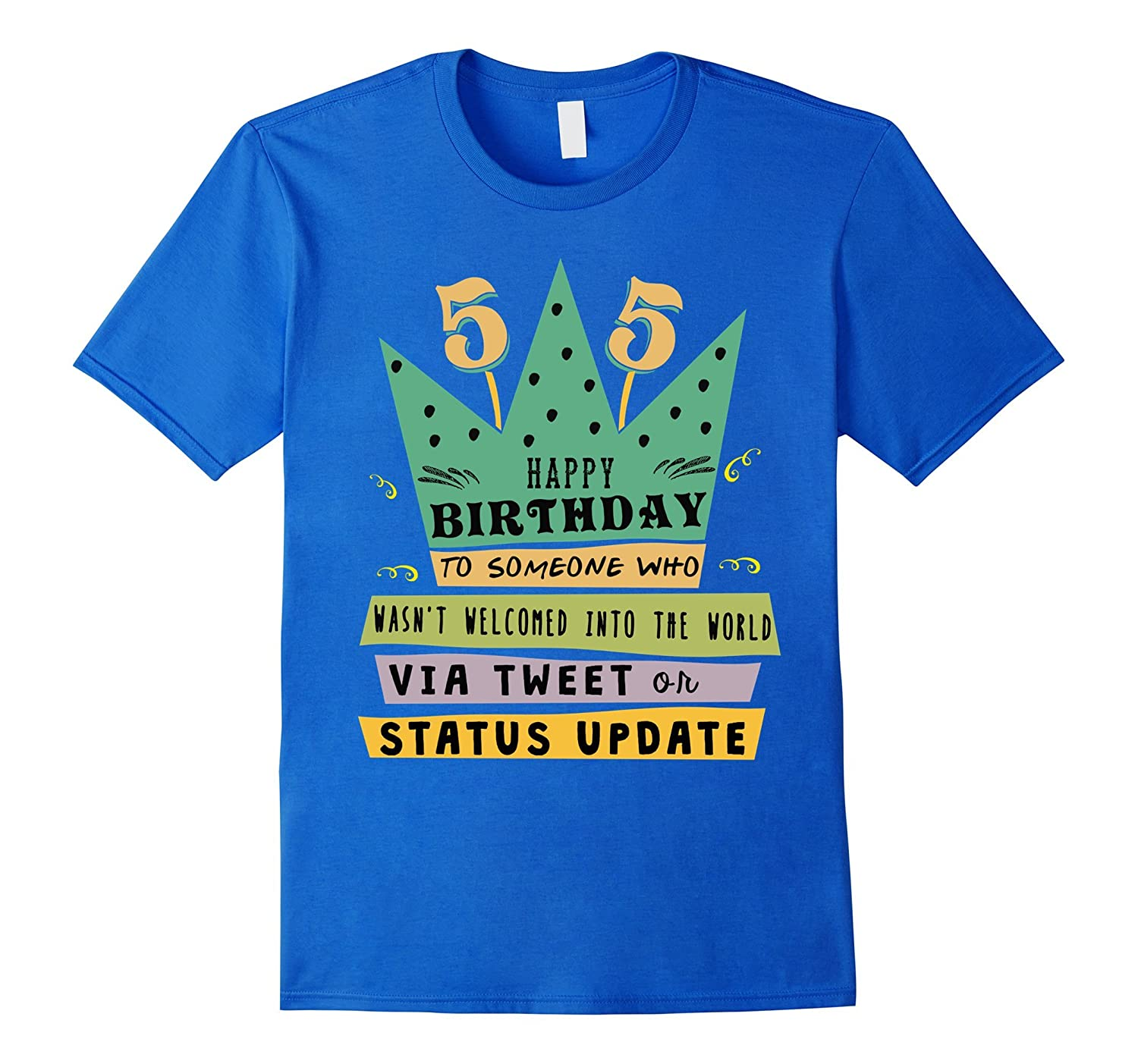 Happy 55th Birthday 55 Years Old Social Media Gift Tee Shirt CL
